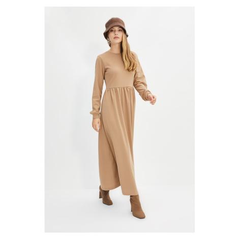 Trendyol Beige Knitted Dress