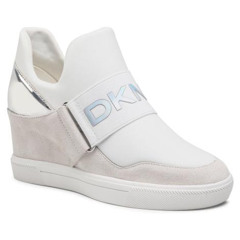 Sneakersy DKNY - Cosmos K4081729 Nubuck Wht/Silver WTL