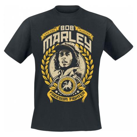 Bob Marley Freedom Fighter tricko černá