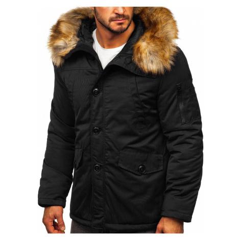 Černá pánská zimní bunda parka alaska Bolf JK355