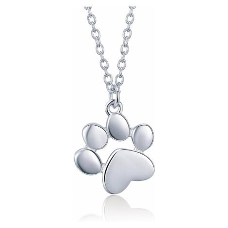 OLIVIE Stříbrný náhrdelník SRDÍČKOVÁ TLAPKA 3378