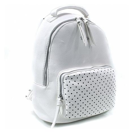 Bílý dámský stylový praktický batoh Laurencia Mahel