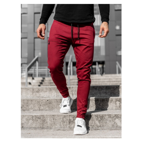 Vínové pánské jogger kalhoty Bolf 11119