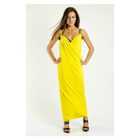 Plážové šaty pareo dlouhé barva žlutá
