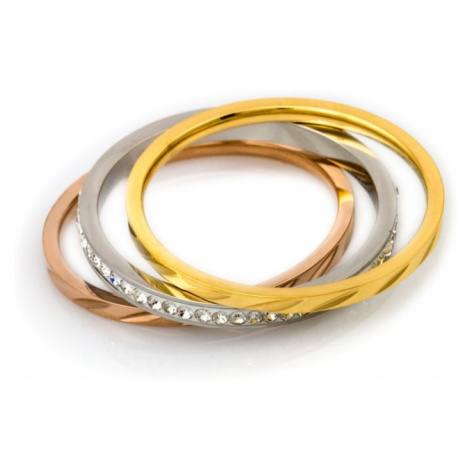 Linda's Jewelry Sada prstenů Triple Simple chirurgická ocel IPR033 Velikost: 52