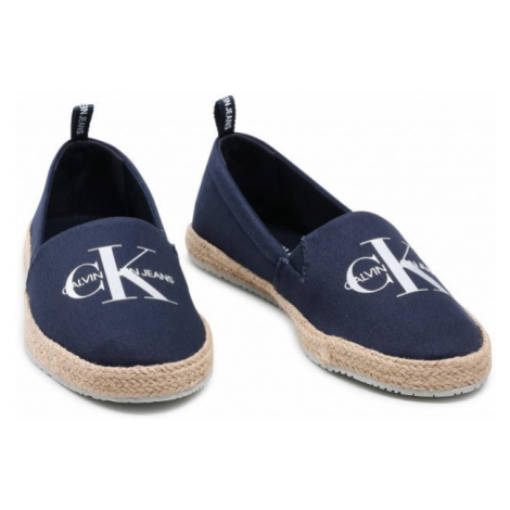 Calvin Klein Calvin Klein dámské tmavě modré espadrilky ESPADRILLE PRINTED CO