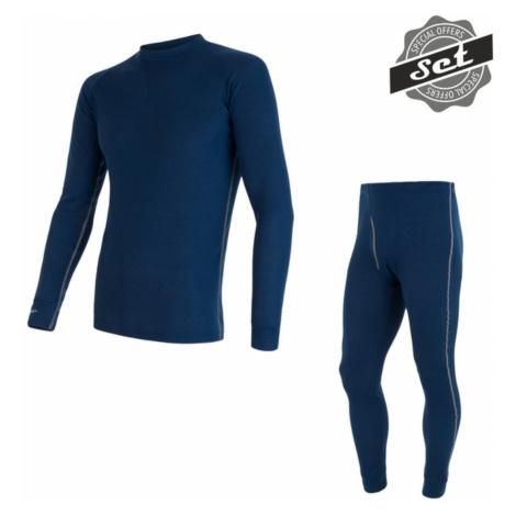 SENSOR ORIGINAL ACTIVE SET pánský triko dl.rukáv + spodky tm.modrý