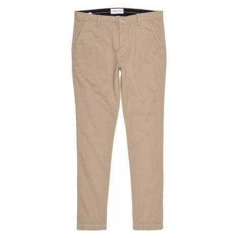 Calvin Klein Calvin Klein pánské světlé hnědé kalhoty 026 WASHED SLIM CHINO