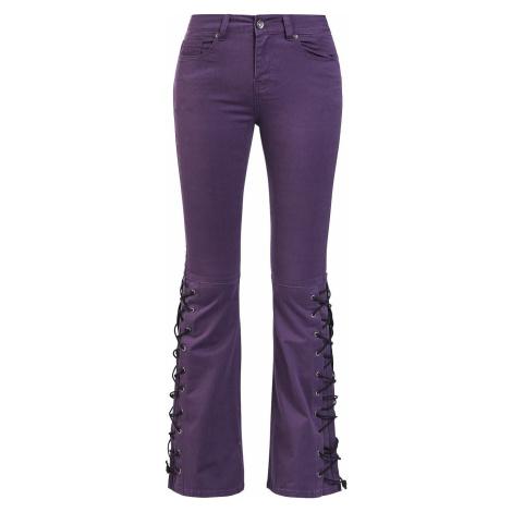 Gothicana by EMP Grace - Violette Jeans mit seitlicher Schnürung Dámské džíny fialová