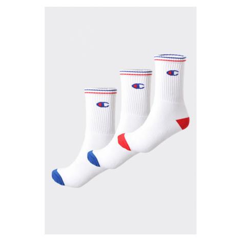 Champion ponožky 3-balení - bílé/logo