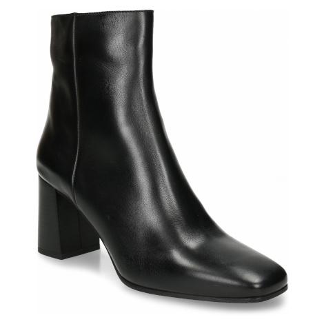 Dámská kotníková obuv v černé kůži Baťa