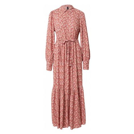 Y.A.S Košilové šaty 'MITURA' světle hnědá / bílá / pink