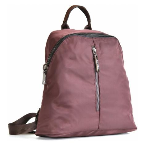 Bright Krásný elegantní batoh A5 látkový s maxi zipem a kapsou hnědý, 32 x 13 x 31 (BR17-W117-81