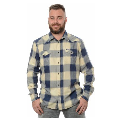 Košile Wrangler Western Gravel pánská modro-béžová