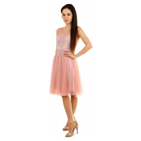 Koktejlové šaty s krajkou