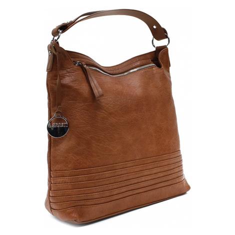 Hnědá velká dámská kabelka přes rameno Courtlyn Mahel