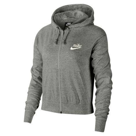 Dámská mikina Nike SPORTSWEAR GYM VINTAGE Šedá / Bílá