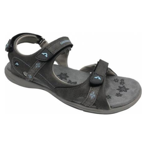Crossroad MANILA tmavě šedá - Dámské sandály