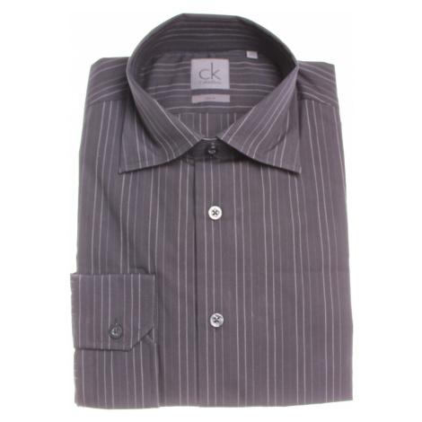 Calvin Klein pánská černá košile s bílými proužky