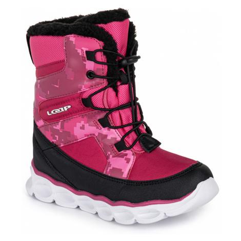 LOAP ENIMA Dětské zimní boty KBJ20136J54V beetroot purple/black