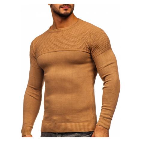 Hnědý pánský svetr Bolf 4623