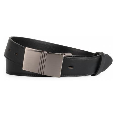 Penny Belts Pánský kožený opasek 35/020/6PS, černý - 110