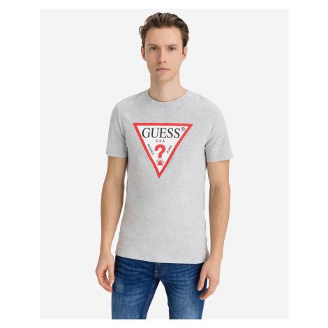 Guess šedé pánské tričko Original Logo