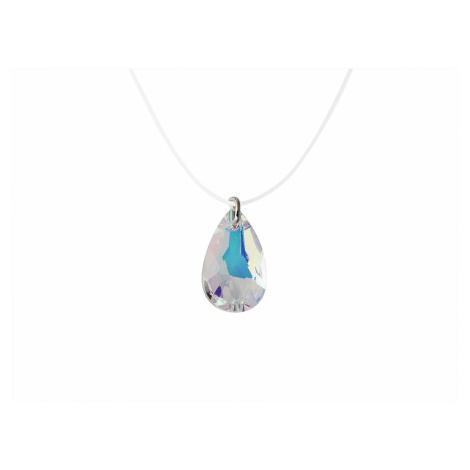 Linda's Jewelry Náhrdelník silikonová struna Swarovski Elements Slza INH049