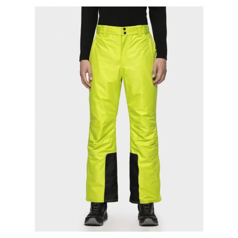 4F Pánské lyžařské kalhoty SPMN001 - šťavnaté zelené