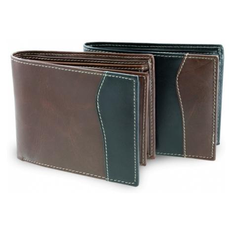 Černo hnědá kožená pánská peněženka Anbel Arwel