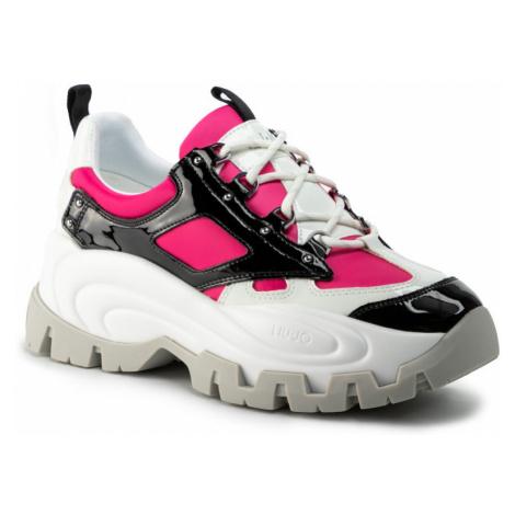 LIU JO Wave 01 - Sneaker Black/Fuxia