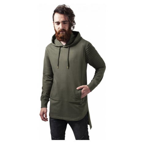 Pleat Sleeves Terry HiLo Hoody - olive Urban Classics