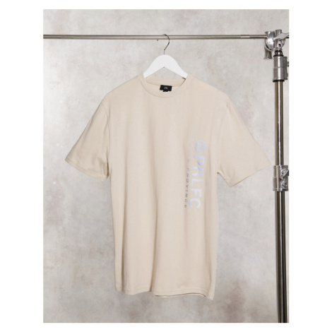 River Island prolific t-shirt in stone-Neutral