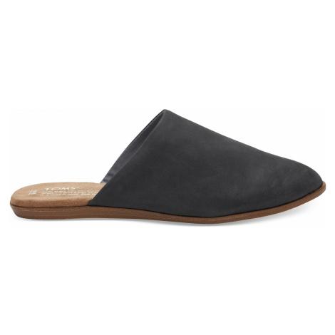 JUTTI MULE-Black Leather Toms