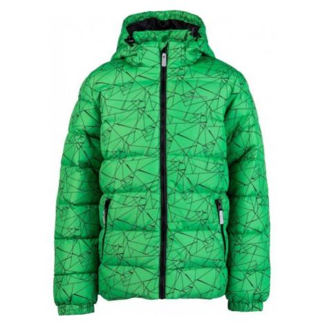 Lewro FANDY zelená - Dětská prošívaná bunda