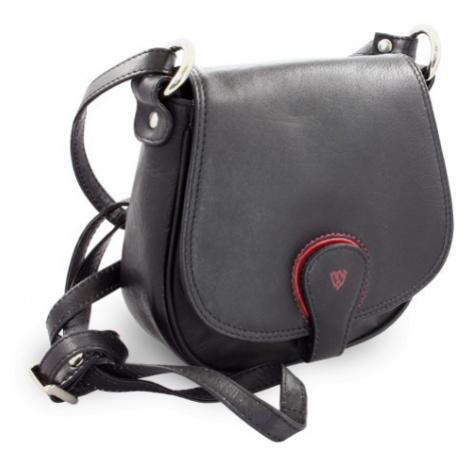 Černá kožená kabelka Amourie Arwel
