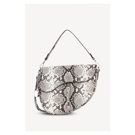 Černo-bílá kabelka s hadím vzorem 30183 Tamaris