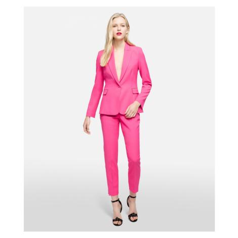 Kalhoty Karl Lagerfeld Skinny Pants W/ Kl Lock - Růžová