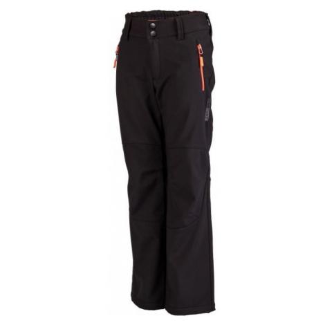 Lewro DAYK černá - Dětské softshellové kalhoty