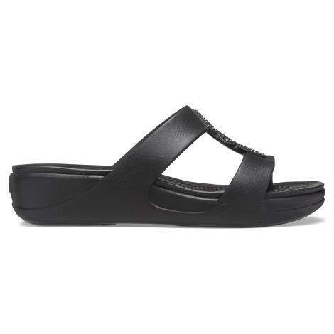 Dámské pantofle Crocs MONTEREY SHIMMER černá
