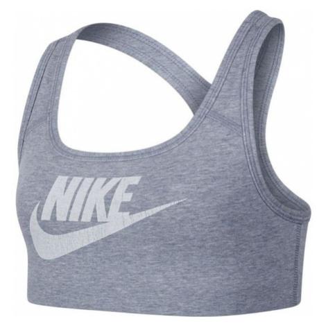 Nike BRA CLASSIC VENNER NSW šedá - Dívčí sportovní podprsenka