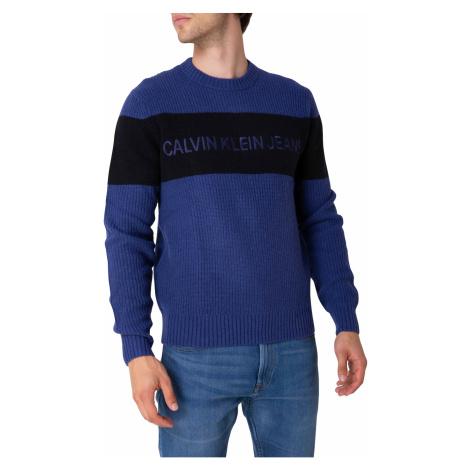 Calvin Klein Svetr Eo/ Chst Stripe Cn S, Cg7