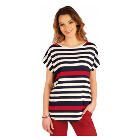 Dámské tričko s krátkým rukávem Litex 5A040 | pruhy