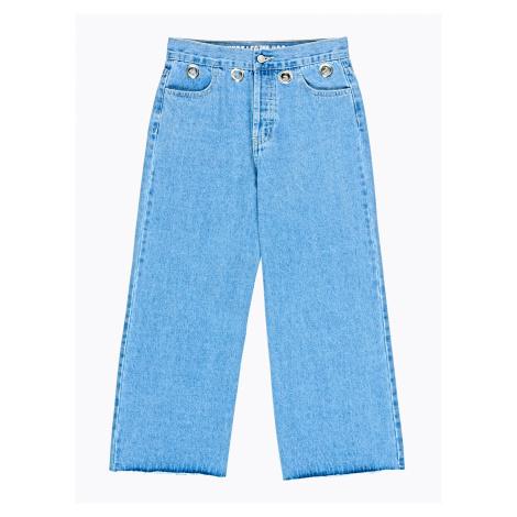 GATE Denimové culotte kalhoty s kovovými proužky
