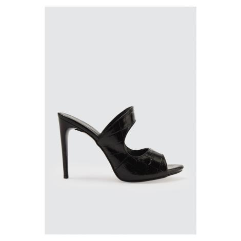 Trendyol Black Kroko Women's Slipper