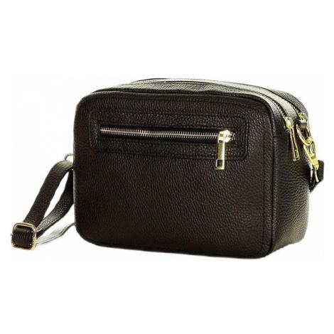 černá kožená crossbody kabelka marco mazzini