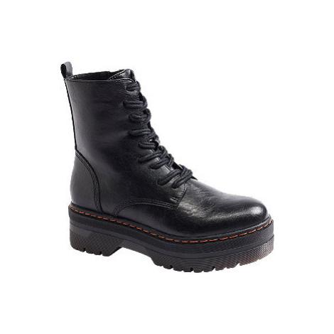 Černá šněrovací obuv Catwalk na platformě