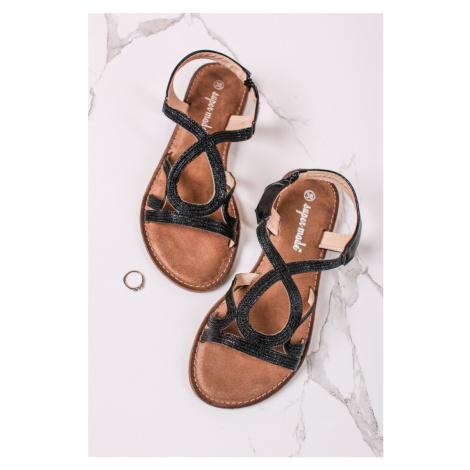 Černé nízké sandály Abby