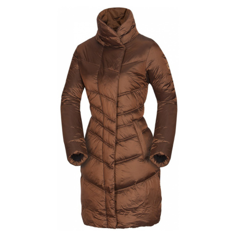NORTHFINDER MADELINE Dámský kabát BU-4532SP293 hnědá