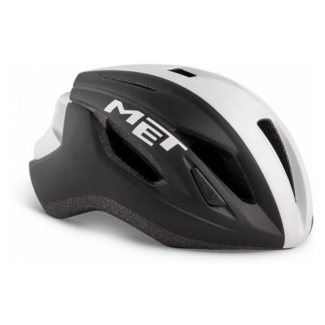 Cyklistická helma MET Strale černá/bílá matná